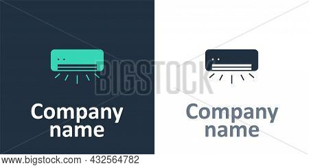 Logotype Air Conditioner Icon Isolated On White Background. Split System Air Conditioning. Cool And