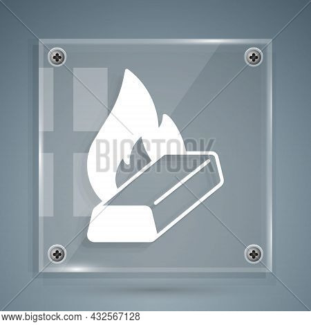 White Molten Gold Being Poured Icon Isolated On Grey Background. Molten Metal Poured From Ladle. Squ