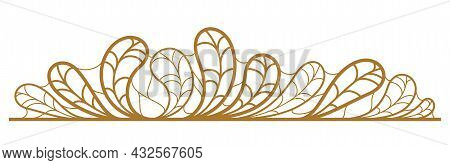 Floral Vector Design With Leaves And Branches Isolated Over White, Classical Elegant Fashion Style B