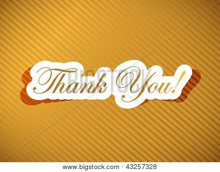 Thank You Card Over A Golden