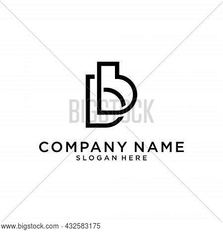 B Letter Logo Design Concept. Creative And Minimalist Letter Bb Logo Design With Water Wave Concept.