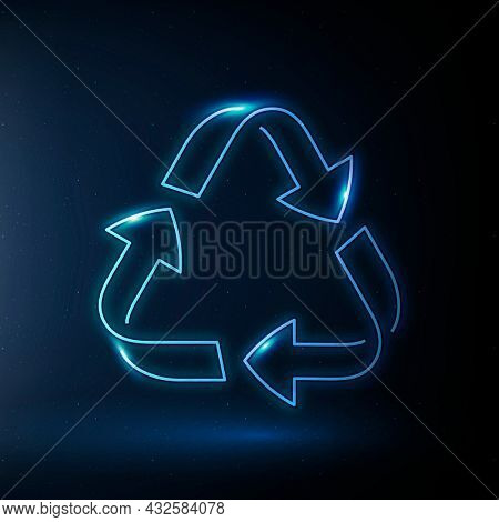 Recycling icon environmental conservation symbol