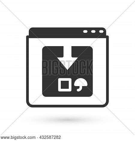 Grey Online App Delivery Tracking Icon Isolated On White Background. Parcel Tracking. Vector
