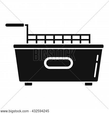 Kitchen Fry Machine Icon Simple Vector. Deep Fryer. Oil Basket