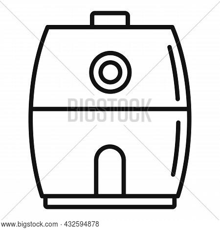 Cooking Fry Appliance Icon Outline Vector. Deep Fryer. Oil Basket