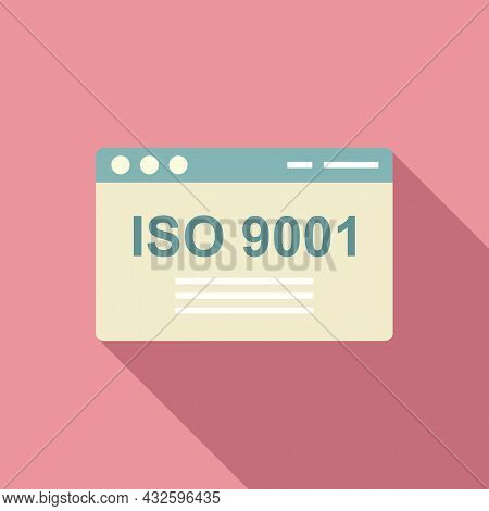 Iso Standard Icon Flat Vector. Quality Policy. Compliance Regulatory