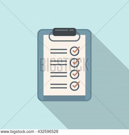 Standard Clipboard Icon Flat Vector. Policy Quality. Compliance Regulatory