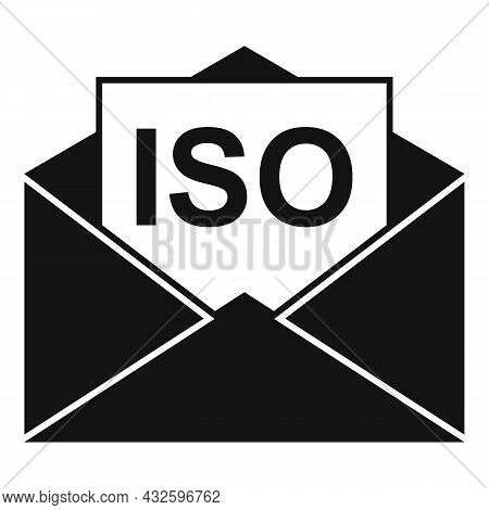 Standard Iso Mail Icon Simple Vector. Policy Quality. Compliance Business