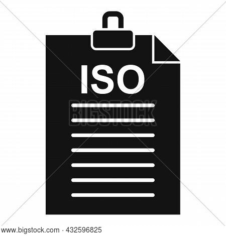 Law Standard Icon Simple Vector. Policy Compliance. Quality Iso