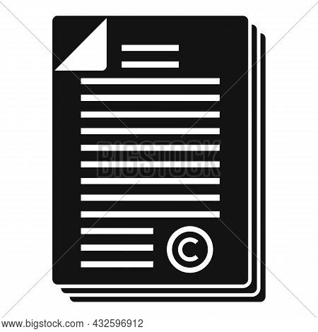 Company Standard Icon Simple Vector. Regulatory Iso. Law Process