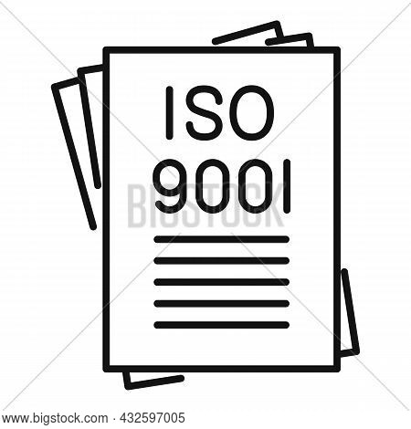 Law Standard Icon Outline Vector. Policy Compliance. Quality Iso