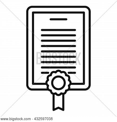Standard Regulation Icon Outline Vector. Policy Quality. Test Rule