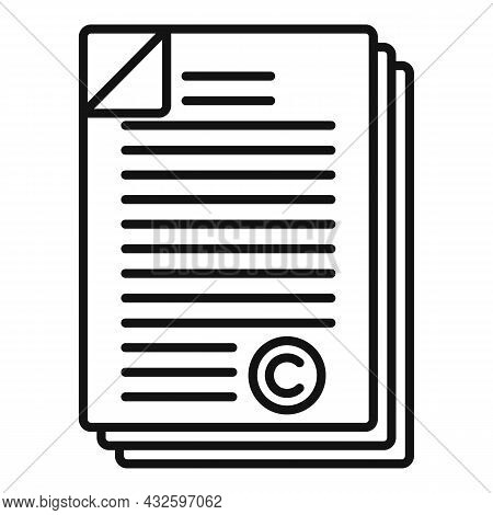 Company Standard Icon Outline Vector. Regulatory Iso. Law Process