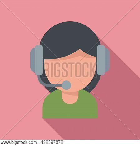 Girl Streamer Icon Flat Vector. Live Stream. Video Online
