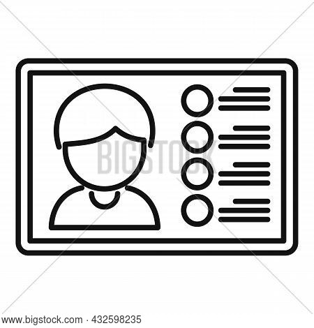Webinar Stream Icon Outline Vector. Online Broadcast. Web Live