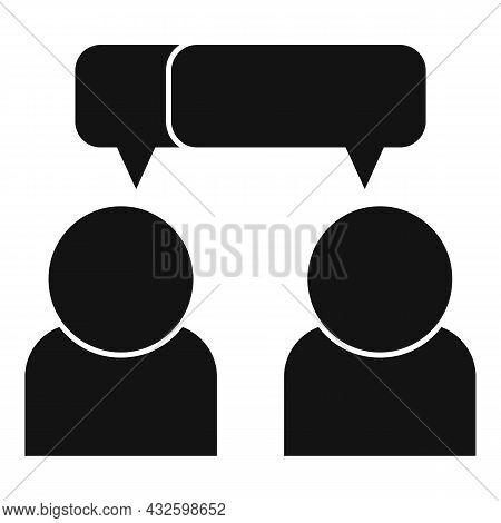 Trust Conversation Icon Simple Vector. Business Partner. People Work