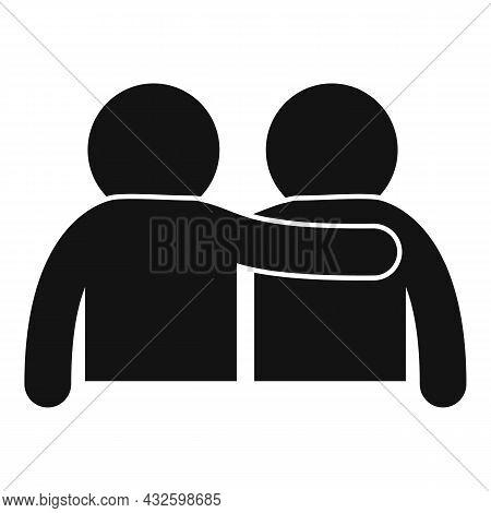Friend Trust Icon Simple Vector. Deal Hand. Work Partner