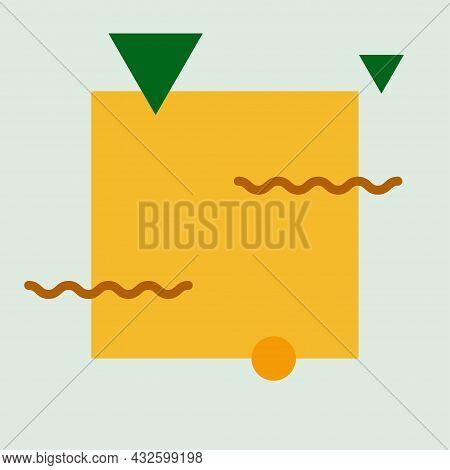 Minimalist Geometric Abstract Background. Bauhaus, Minimalist Retro Poster Graphics. Vector Illustra