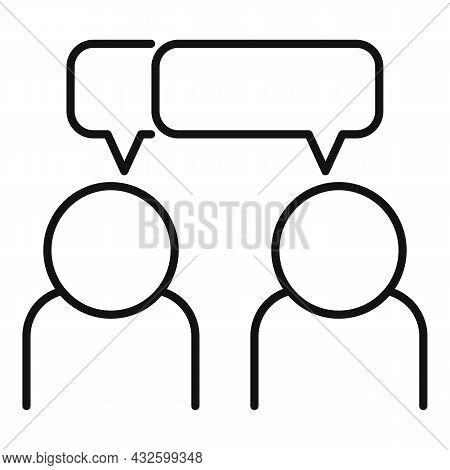Trust Conversation Icon Outline Vector. Business Partner. People Work