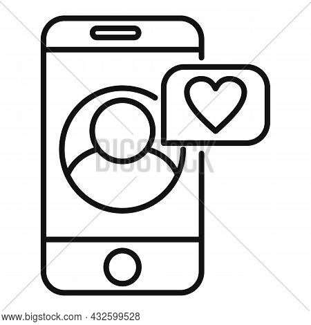 Trust Phone Call Icon Outline Vector. Partner Relationship. Success Call