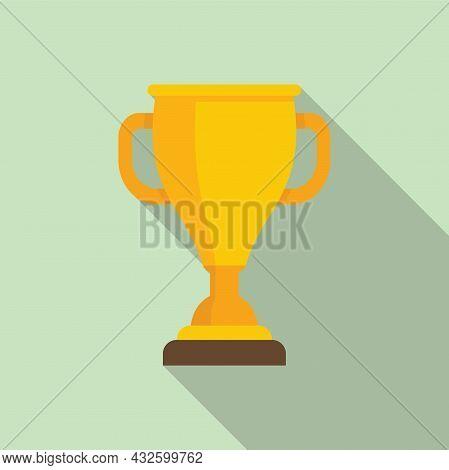 Sport Gold Cup Icon Flat Vector. Winner Trophy. Win Award
