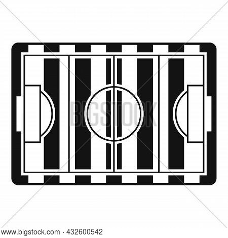 Soccer Field Icon Simple Vector. Stadium Pitch. Top Football Match