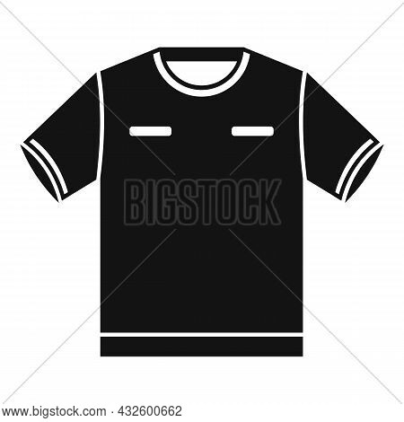 Referee Tshirt Icon Simple Vector. Foul Game. Sport Judge