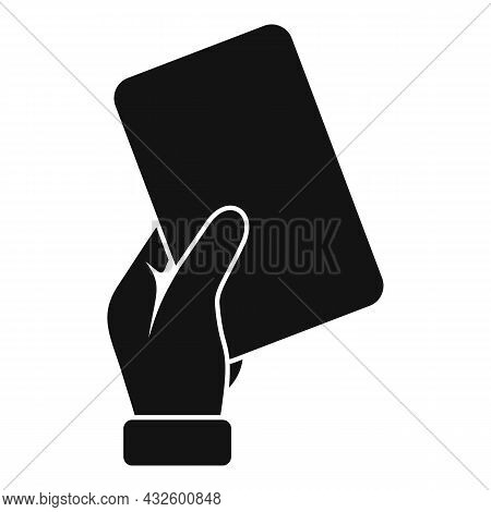 Referee Card Icon Simple Vector. Soccer Penalty. Football Judge