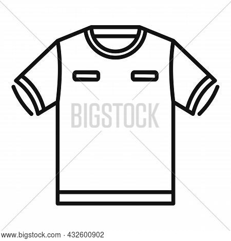 Referee Tshirt Icon Outline Vector. Foul Game. Sport Judge