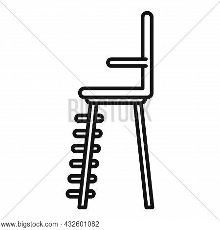 Volleyball Referee Seat Icon Outline Vector. Tennis Chair. Umpire Lifeguard