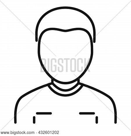Referee Man Icon Outline Vector. Soccer Card. Sport Judge