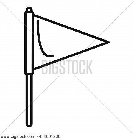 Pitch Flag Icon Outline Vector. Soccer Stadium. Corner Football