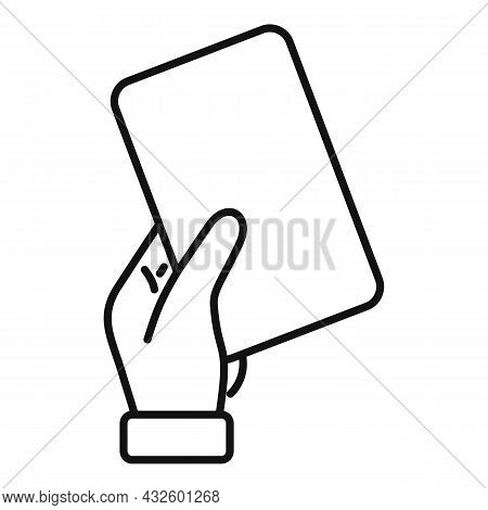 Referee Card Icon Outline Vector. Soccer Penalty. Football Judge