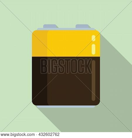 Empty Battery Icon Flat Vector. Charge Battery. Lithium Energy