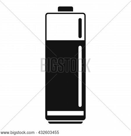 Aaa Battery Icon Simple Vector. Lithium Power. Cell Electric