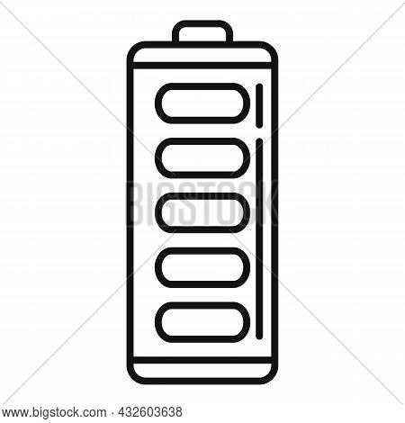 Full Battery Icon Outline Vector. Phone Energy. Power Lithium