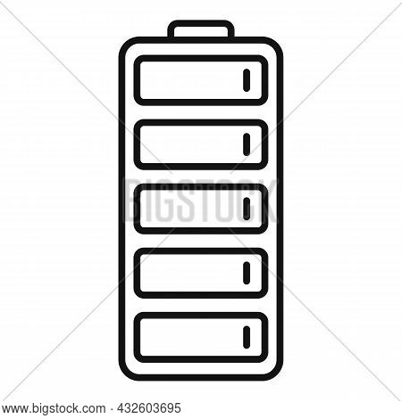 Empty Battery Icon Outline Vector. Charge Battery. Lithium Energy