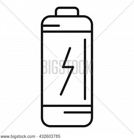 Low Battery Icon Outline Vector. Energy Phone. Lithium Charge
