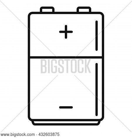 Recycle Battery Icon Outline Vector. Full Energy. Life Charger