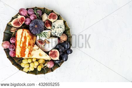 French Cheese Collection Camembert, Emmental, Marble Delicous Cheese, Blue Cheese French, Dorblu, Mo