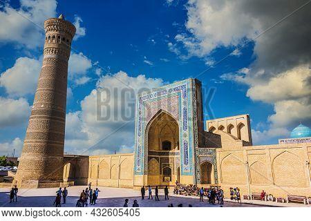 Bukhara, Uzbekistan - May 1, 2019: Po-i-kalan Or Poi Kalan, An Islamic Religious Complex Located Aro