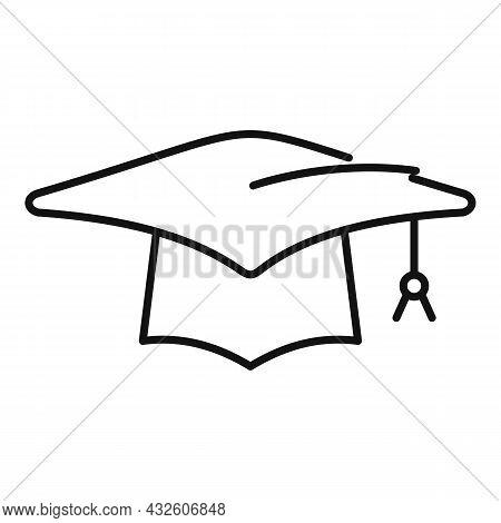 Student Graduation Hat Icon Outline Vector. School Graduate. Academic Cap