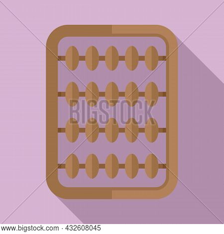 Inca Abacus Icon Flat Vector. Math Calculator. Wooden Toy