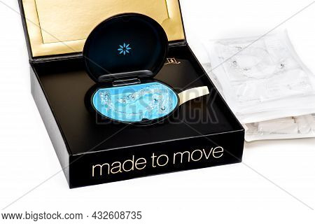Sydney, Australia, 2021-08-23 Invisalign Aligners In A Box. Invisible Braces. Clear Teeth Straighten