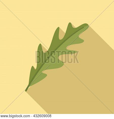 Arugula Icon Flat Vector. Rucola Salad. Leaf Plant