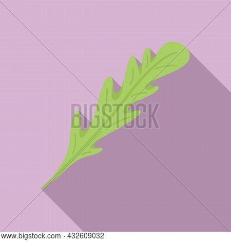 Rucola Icon Flat Vector. Arugula Salad. Leaf Plant
