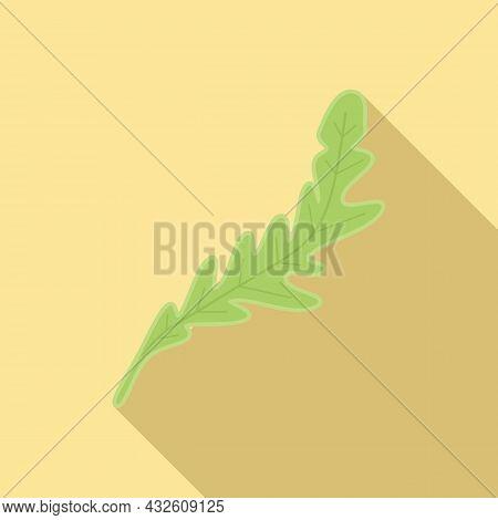 Arugula Herb Icon Flat Vector. Rucola Salad. Leaf Plant