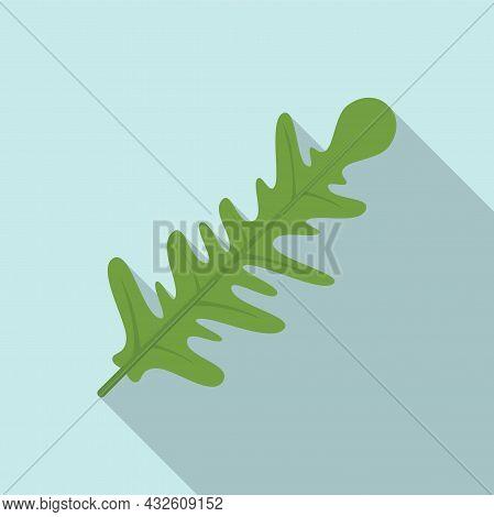 Vegetable Rucola Icon Flat Vector. Arugula Salad. Leaf Plant