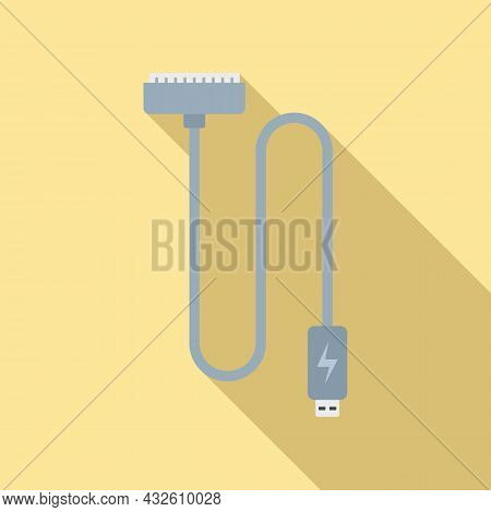 Charger Cable Icon Flat Vector. Phone Battery. Cell Mobile