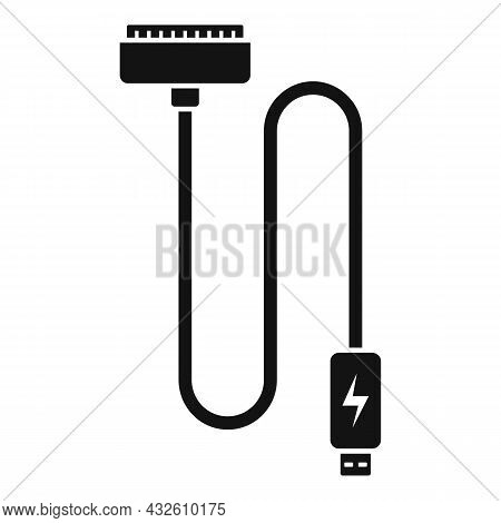 Charger Cable Icon Simple Vector. Phone Battery. Cell Mobile